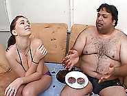 A Fat Glutton Fucks A Sexy Girl With His Smal...