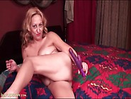 Big Tits And Ass On A Dildo Fucking Old Lady