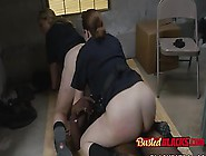 Big Ass Cop Ladies Pussy And Ass Licked By Bl...