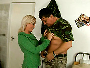 Blonde Scofflaw Sucks Dudes Cock Deepthroat A...