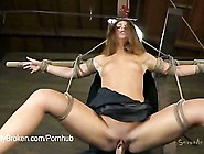 Teen Blonde Ash Hollywood Submits To Rope And...