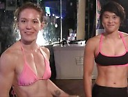 Fit Women Wrestle And Bondage Play