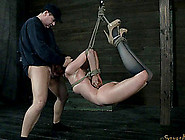 Long Hair Bondage Maiden Giving Out Blowjob W...