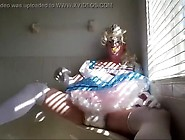 Diapered Sissybaby In Pretty Blue Dress