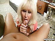 Horny Blonde Mature In Stockings Jumps On You...