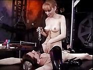 Mistress Fools Around With Her Slave Bound To...