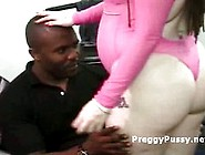 Black Stud Craves For Preggy Pink Pussy On In...