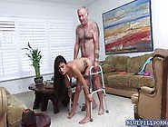 Michelle Martinez Fucked By Old Man With A Wa...