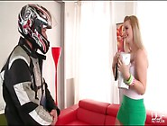 Cute Charlyse Bella Blows The Delivery Guy