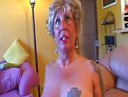Granny Gets Cum Dumped All Over Her Mature Fa...