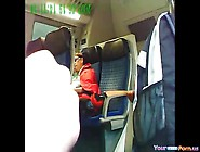 Dude Getting Busted Jerking Off On A Train Co...