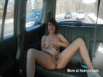 MILF backseat masturbation