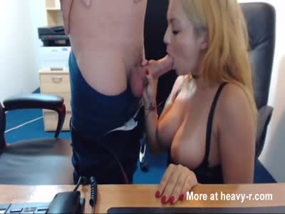 Sucking and fucking bot at the office