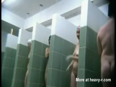 Many moms filmed in a public shower room