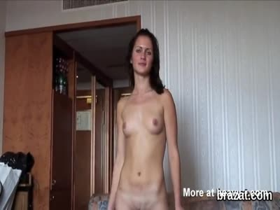 Cute Girl Undressing On Casting