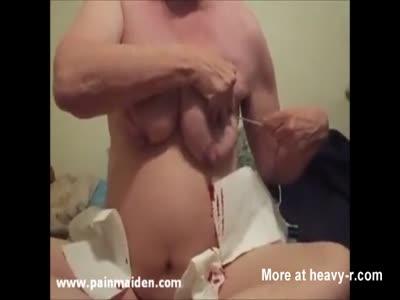 Skewering Saggy Tits