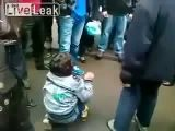 Little boy beaten by Chinese assholes