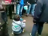 Little boy beaten by Chinese assholes