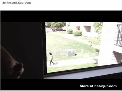 Hot Teen Walks By Window
