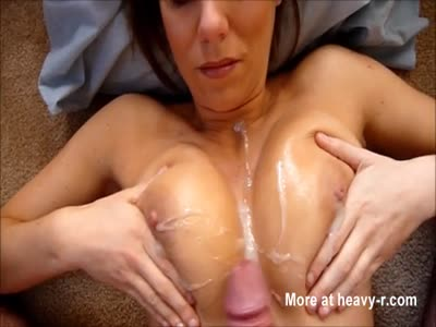 POV Tit Fuck Ends In Glazed Boobs