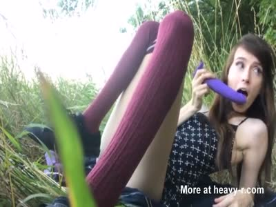 Skinny Teen In Outdoor Masturbation