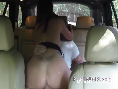 American With HugeTtits Nailed In Taxi