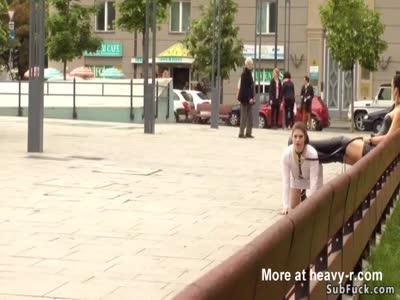 Double penetration public Euro sex