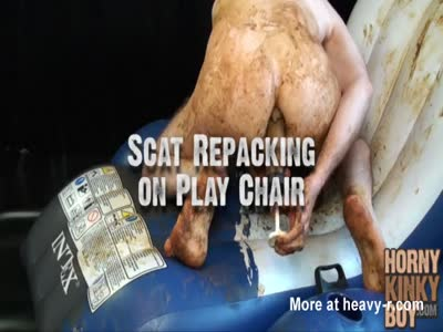 Scat Repacking on Play Chair