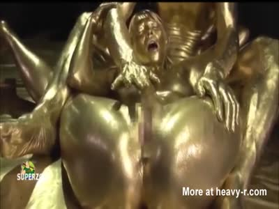 Gold body paint porn