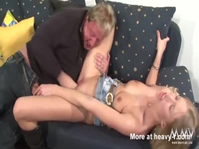 Busty blonde Pleasing An Old Guy
