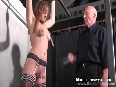 Blonde Slave Tit Tormented