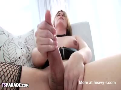 Cute Shemale Hottie Amy Daly Does It Solo