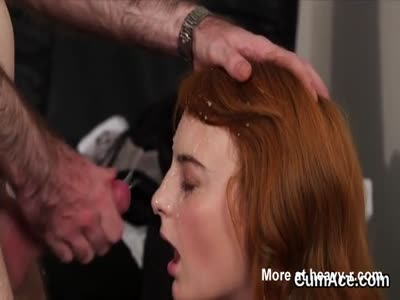 Wicked Redhead Splashed With Cum