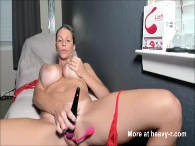 Busty Lass Orgasms On Cam