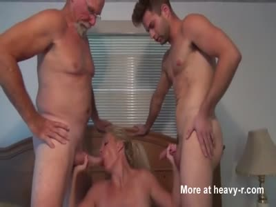 Young guy having sex with stepmom and dad