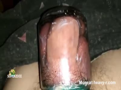Girl fisting on red tube