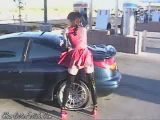 Latex whote washes car