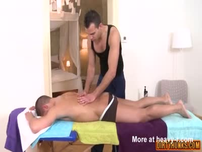 Muscle daddy flip flop with facial