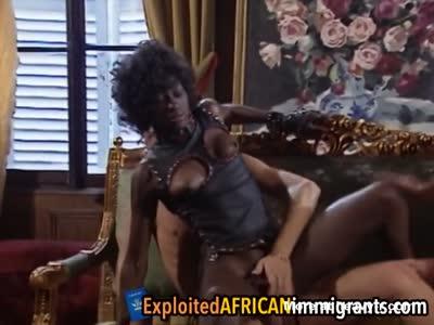 Stunning african babe got analyzed