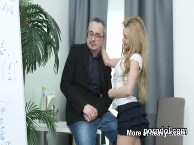 Nice college girl gets seduced and plowed by her older teach