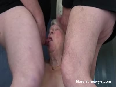 Double Blowjob By Granny