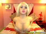 Busty Blonde Tranny Anal