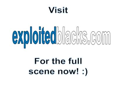 Black chick gets exploited in threesome