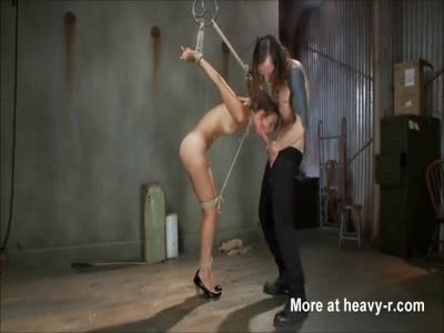 Tied Skinny submissive fuck slut