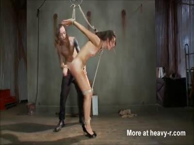 Tied Skinny Slut Fucked