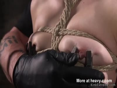 Blonde in bondage fucked in dungeon