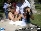 Hottie breaks her arm