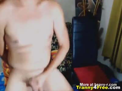 Two Asian Tranny Jerks and Fuck on Cam
