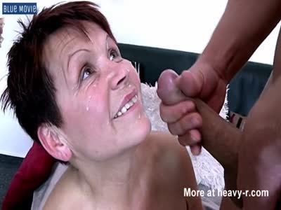 Facial Cumshot For Granny