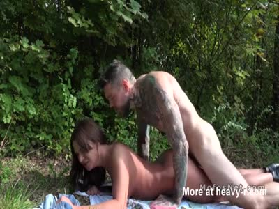 Russian Babe Fucks In The Park